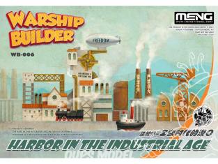 Meng maquette sous marin WB-006 Construire un quai pour vos constructions de navires de guerre Cartoon