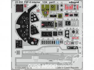 Eduard photodecoupe avion 23032 Intérieur F6F-5 Hellcat Airfix 1/24