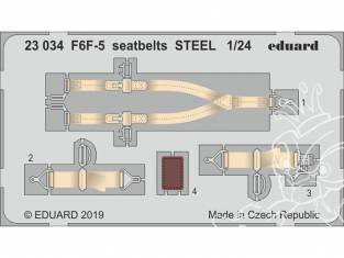 Eduard photodecoupe avion 23034 Harnais métal F6F-5 Hellcat Airfix 1/24
