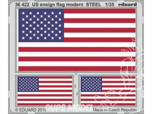 Eduard photodecoupe militaire 36422 Drapeaux US moderne métal 1/35