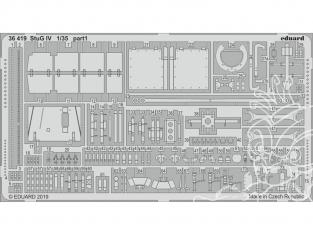 Eduard photodecoupe militaire 36419 Amélioration StuG IV Academy 1/35