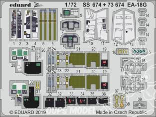Eduard photodecoupe avion 73674 Amélioration EA-18G Hasegawa 1/72