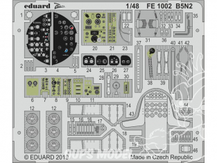 EDUARD photodecoupe avion FE1002 Zoom amélioration B5N2 Hasegawa 1/48