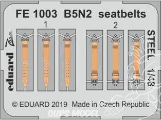 EDUARD photodecoupe avion FE1003 Harnais métal B5N2 Hasegawa 1/48