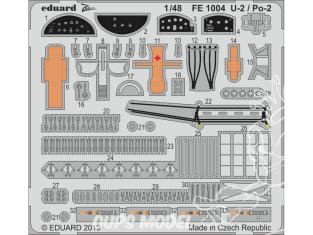 EDUARD photodecoupe avion FE1004 Zoom U-2 / Po-2 Icm 1/48