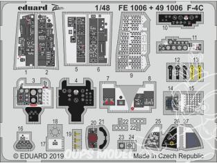 EDUARD photodecoupe avion 491006 Intérieur F-4C Academy 1/48
