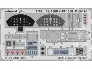 EDUARD photodecoupe avion 491000 Amélioration MiG-17F Hobby Boss 1/48