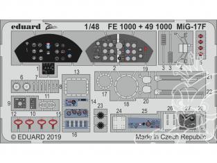EDUARD photodecoupe avion FE1000 Zoom Amélioration MiG-17F Hobby Boss 1/48