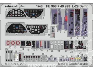 EDUARD photodecoupe avion 49998 Intérieur L-29 Delfin AMK 1/48