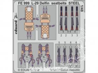 EDUARD photodecoupe avion FE999 Harnais métal L-29 Delfin AMK 1/48