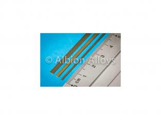 Albion Alloys L3 Tige laiton en L 3mm x 1mm x 305mm