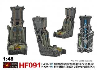 Hobby Fan HF091 kit de conversion Kit de conversion de siège éjectable F-CK-1C pour kit AFV Club 1/48