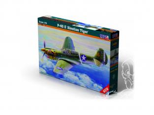 Master CRAFT maquette avion 042022 P-40E Aleutian Tiger 1/72