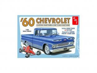 AMT maquette voiture 1063 Chevrolet Apache C10 1960 et go kart 1/25
