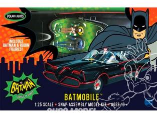 Polar Lights maquette 965 Batmobile snap inclus 2 personnages 1/25