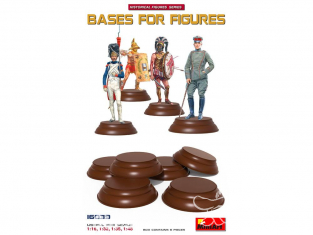 Mini art figurine 16039 Six Bases pour figurine 1/16