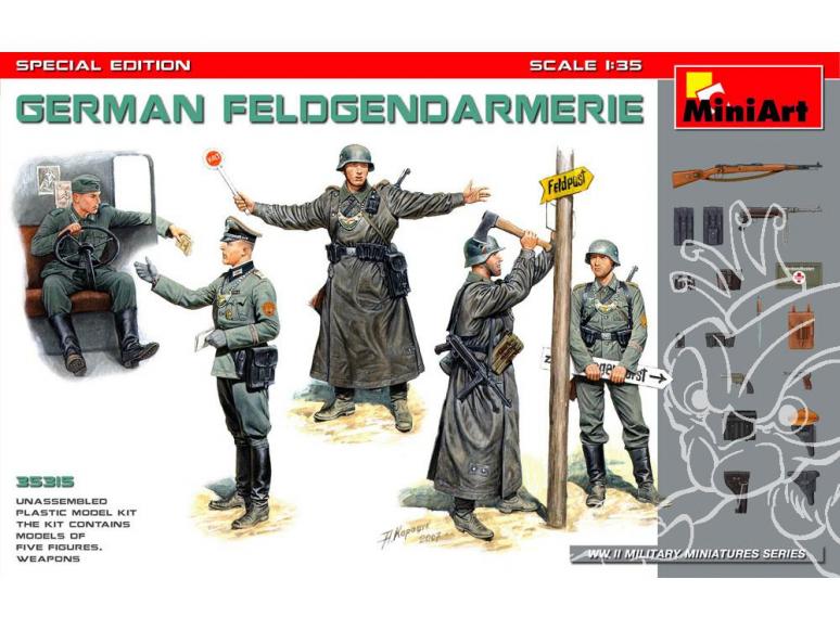 Mini Art maquette militaire 35315 FELDGENDARMERIE Allemant edition speciale 1/35