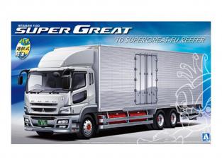 Aoshima maquette camion 09901 Mitsubishi Fuso 2010 (Type FH) Supergreat-FU Frigo 1/32