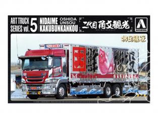 Aoshima maquette camion 09888 Oshidaunsou Nidaime Kakubunkankou 1/32