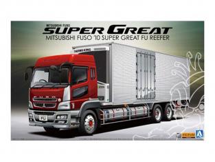 Aoshima maquette camion 05583 Mitsubishi Fuso 2010 (Type FH) Super Great FU Frigo 1/32