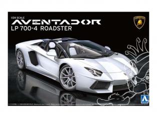 Aoshima maquette voiture 08652 Lamborghini Aventador LP700-4 Roadster 1/24