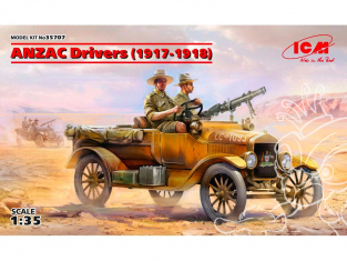 Icm maquette figurines 35707 ANZAC equipage (1917-1918) 2 figurines  WWI 1/35