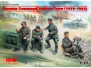 Icm maquette militaire 35644 Equipage de véhicules de commandement allemand (1939-1942) 100% de nouveaux moules 1/35