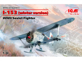 Icm maquette avion 32011 I-153 (version d'hiver), chasseur soviétique de la seconde guerre mondiale 1/32