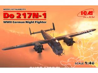 Icm maquette avion 48271 Do 217N-1 chasseur de nuit allemand de la seconde guerre mondiale (100% nouveaux moules) 1/48
