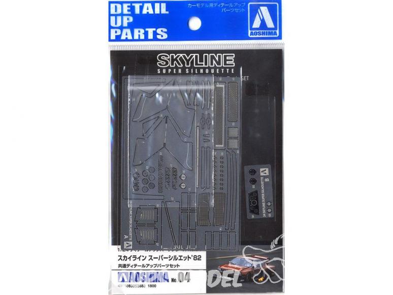 Aoshima maquette voiture 53683 Kit d'amélioration Nissan Skyline Super Silhouette KDR30 1982 1/24