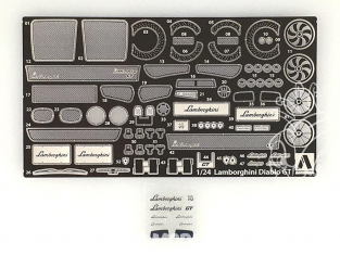 Aoshima maquette voiture 10532 Kit d'amélioration Lamborghini Diablo GT 1/24