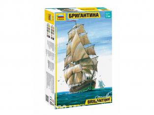 Zvezda maquette bateau 9011 Navire Brigantine 1/100