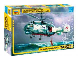 Zvezda maquette helico 7247 Helix D Hélicoptère russe de recherche et de sauvetage 1/72