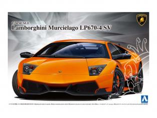 Aoshima maquette voiture 07068 Lamborghini Murcielago LP670-4 SV 1/24