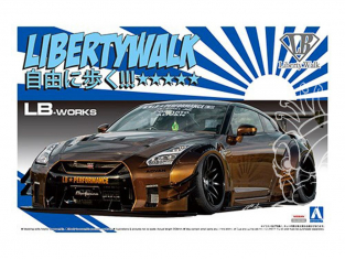 Aoshima maquette voiture 55915 Nissan GT-R R35 Type 2 Ver.1 LB Works Liberty Walk 1/24