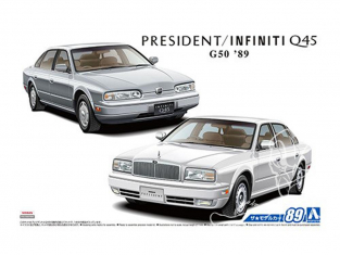 Aoshima maquette voiture 56424 Nissan G50 President / Infinity Q45 1989 1/24