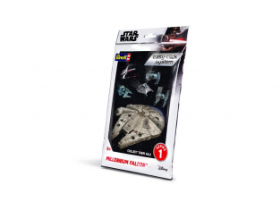 Revell maquette Star Wars 01100 easy -click system Millennium Falcon 1/72