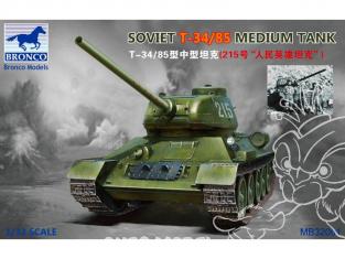 Bronco maquette militaire MB32001 Char sovietique T-34-85 1/32