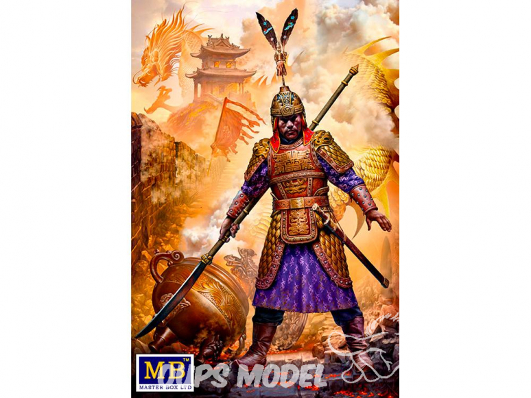 Master Box personnages 24059 Zhu Yuanzhang, empereur fondateur de la dynastie Ming en Chine 1/24