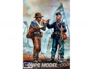 Master Box maquette figurines 35198 Frères se retrouvent armée confédérée se rend aux troupes fédérales guerre de Sécession 1/35