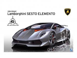Aoshima maquette voiture 10730 Lamborghini Sesto Elemento 1/24
