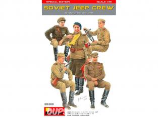 Mini Art maquette militaire 35313 Conducteurs et equipage jeep sovietique WWII 1/35