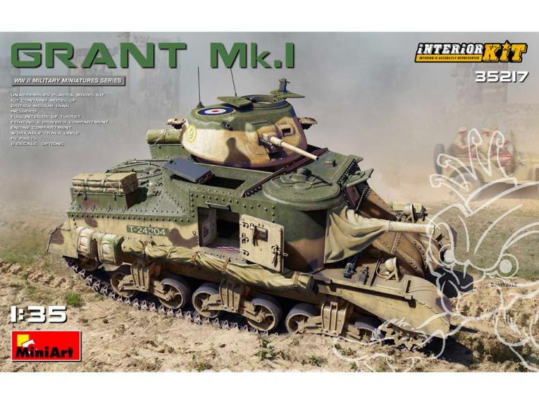 Mini Art maquette militaire 35217 GRANT Mk.I avec interieur détaillé 1/35