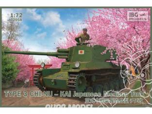 IBG maquette militaire 72058 Char moyen japonais type 3 CHI-NU KAI 1/72