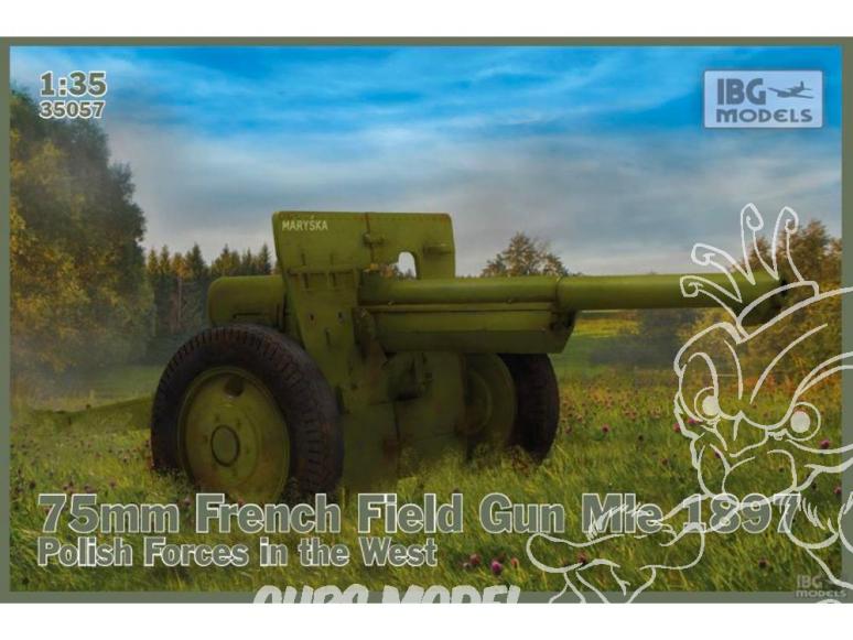IBG maquette militaire 35057 Canon de campagne français de 75 mm Mle 1897, Forces polonaises 1/35