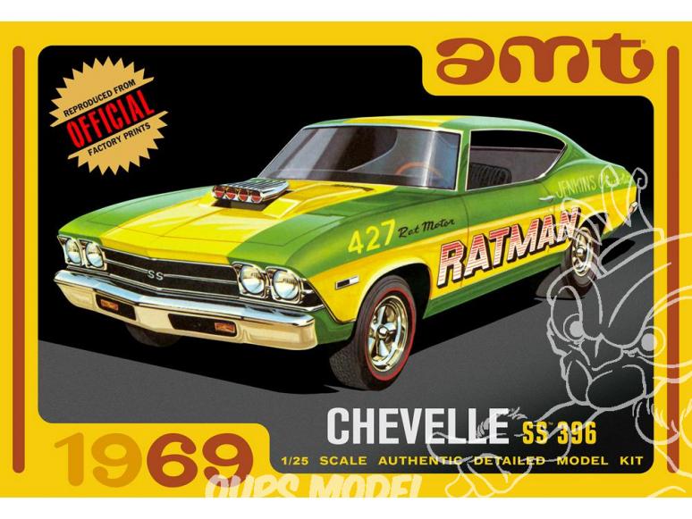 AMT maquette voiture 1138 Chevrolet chevelle SS 396 1/25