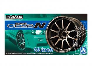 "Aoshima maquette voiture 53911 Jantes Rays Volk Racing CE28N 19"" et pneus 1/24"