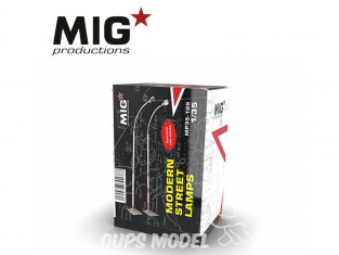 MIG Productions by AK MP35-105 Lampadaires modernes 1/35
