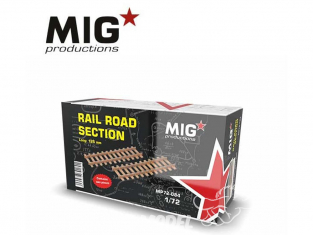MIG Productions by AK MP72-084 Section de rail de chemin de fer 1/72