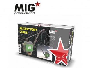 MIG Productions by AK MP72-413 Grue de port / Grue de chemin de fer 1/72